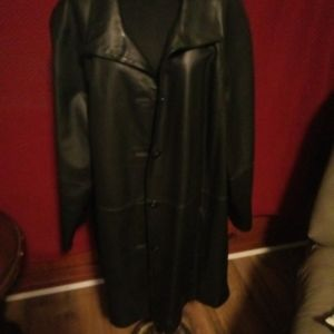 East 5th Avenue woman black leather jacket